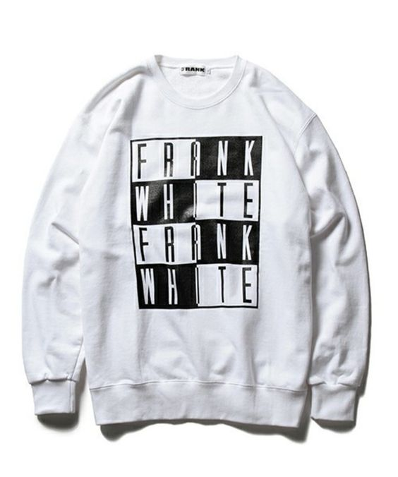 【FRANK / WHITE クルーネック スウェット】FRANK 世界中のカルチャーを席巻するポケットサイズのフリー…