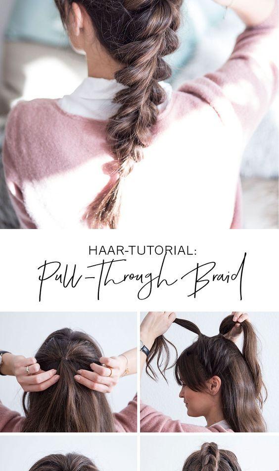 Haar Tutorial Pull Through Braid Ganz Einfach Und Ohne Flechten That S Life Berlin Zopf Lange Haare Haartutorial Haare Flechten Anleitung