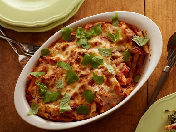 Cheesy Spinach Baked Penne #Pasta #Grains #Dairy #MyPlate