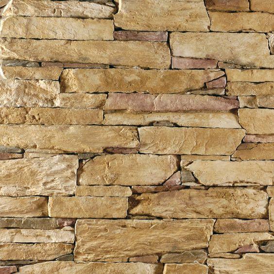 Steinwand - Verblender - Wandverkleidung - Steinoptik - Isola gold - steinwand beige wohnzimmer