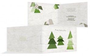 """Noch 52 Tage bis Weihnachten, genug Zeit, in Ruhe nach der passenden Weihnachtskarte zu stöbern. Hier seht Ihr die Grußkarte """"Schnipselbäume""""..."""
