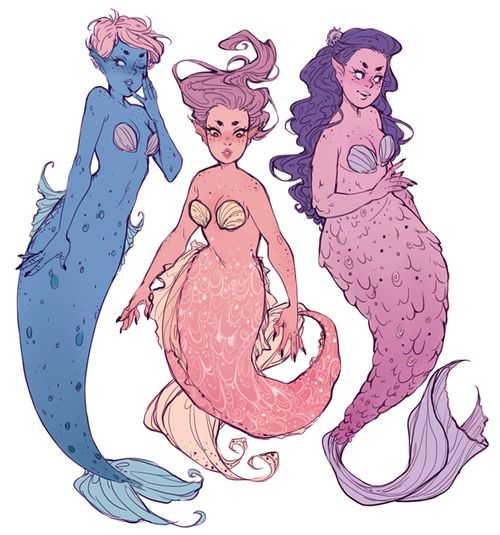 Character Design References Tumblr : Some more mermaid ideas fantasy cosplays immagination