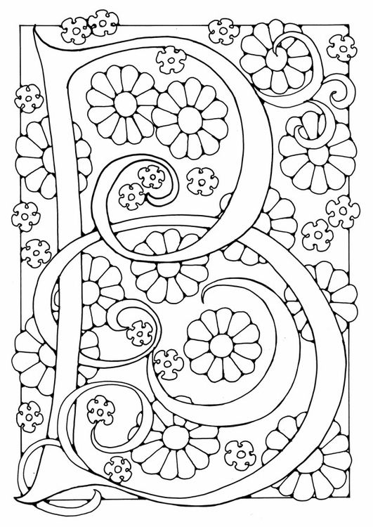 b words coloring pages - photo #27