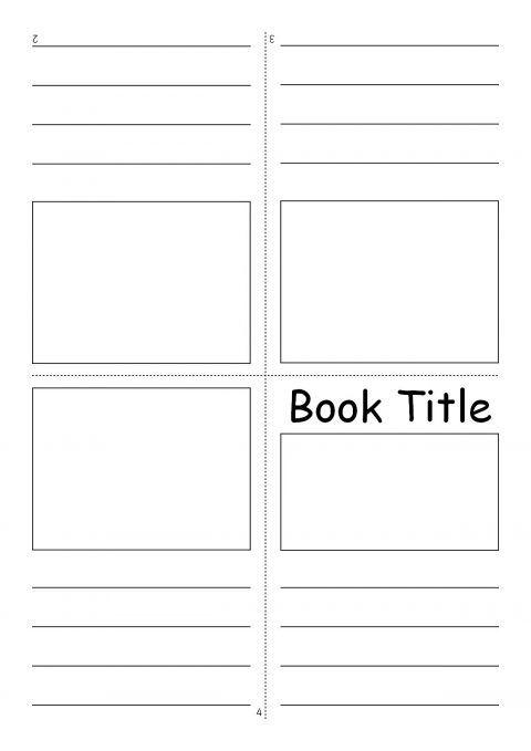 Editable Fold Over Mini Book Templates Sb7366 Sparklebox Book Writing Template Book Template Mini Booklet
