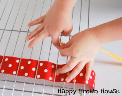 Ribbon Weaving activity for preschoolers from @Sara @HappyBrownHouse www.happybrownhouse.com  I would also use it to create patterns.