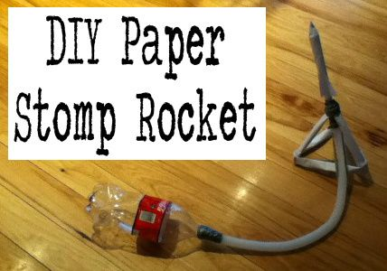 DIY Paper Stomp Rocket from great science & engineering site, https://diy.org/