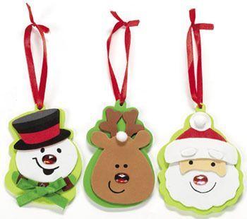 adornos de navidad en goma eva foamy