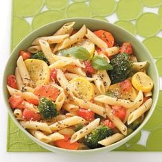 Pasta with Fresh Vegetables - Use Dreamfield's pasta