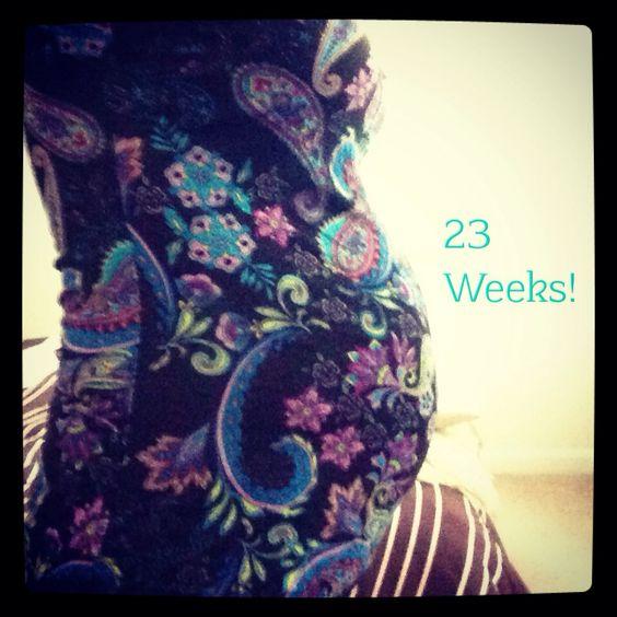 #23w5d #pregnancy #baby bump #baby boy