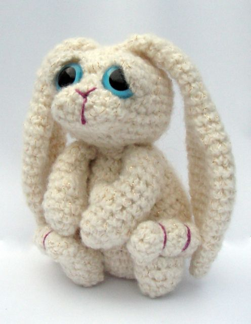 Free Crochet Pattern For Bunny Pin : Amigurumi Bunny Rabbit - Bramble pattern by Kate E ...