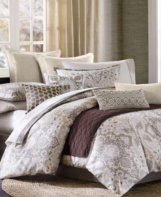 Echo Odyssey King Comforter Set Gray Bedding Echo