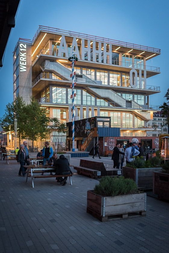 Das Neue Fitness Studio Body Soul Im Neuen Werk12 Architektur Mvrdv Rotterdam Architektur Fassade Rotterdam