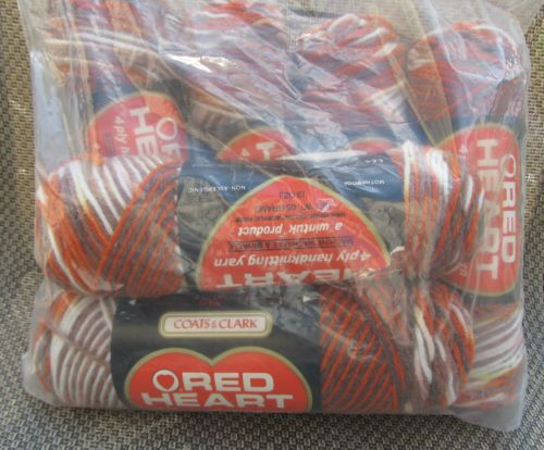 Red Heart Yarn Lot of 6 Skeins Variegated Copper Kettle Vintage Classic Browns | eBay
