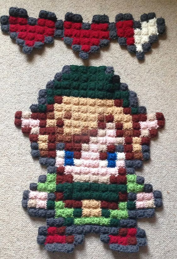 ... Crochet Crazed Pinterest Pixel Crochet, Zelda and Legends