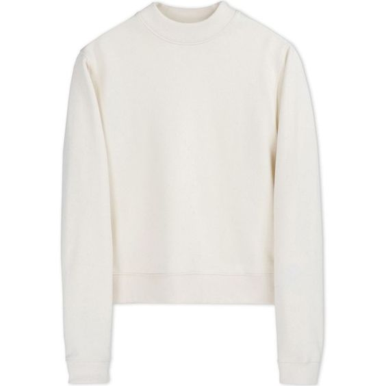 Acne Studios Sweatshirt (230 CHF) ❤ liked on Polyvore featuring tops, hoodies, sweatshirts, shirts, sweaters, ivory, ivory shirt, long sleeve shirts, zip sweatshirt e sweat shirts