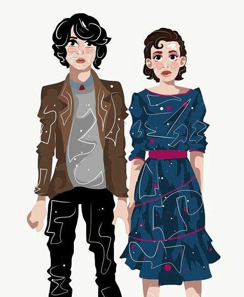 Stranger Things Fanart Credit Castixell Mike And Eleven Stranger Things Fanart Stranger Things Art Lucas Stranger Things