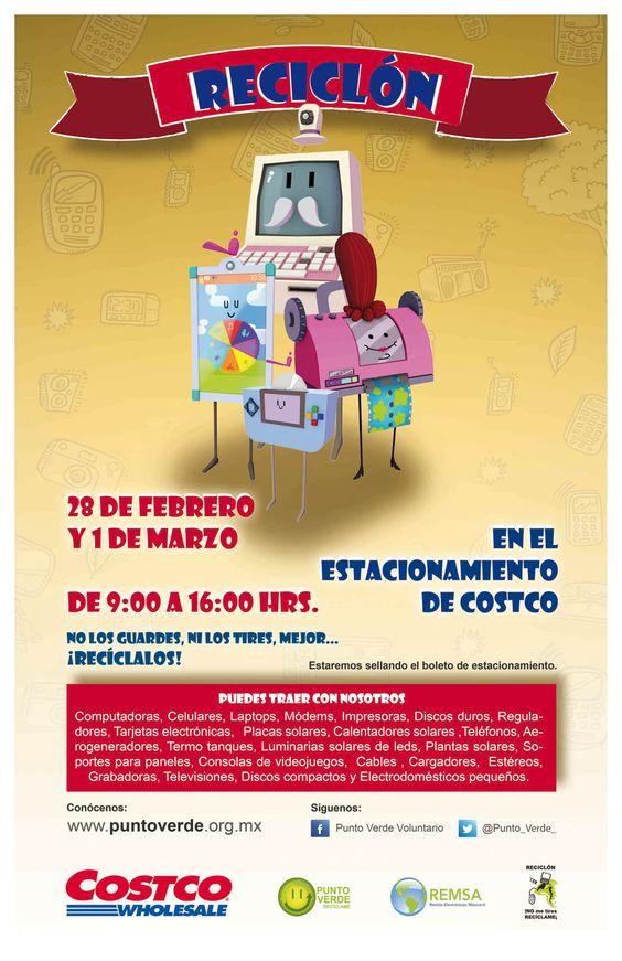 Querétaro nos vemos este 28 de febrero y 1ero de marzo en el estacionamiento del Costco, sobre Bernardo Quintana, para el Reciclón®