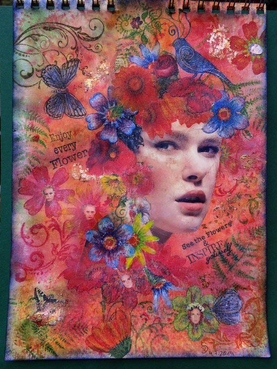 """Schaerfchens Kreative Welt: Journalseite """"Flower-Power"""""""
