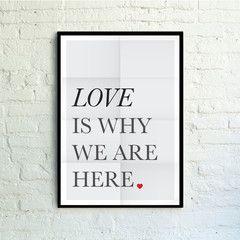 CUADRO love is why 50x70