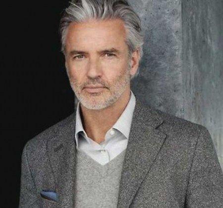 Graue frisur haare mann Halblange Haare,