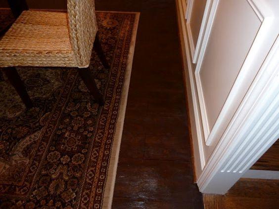"""It's a """"faux"""" hardwood plank floor"""