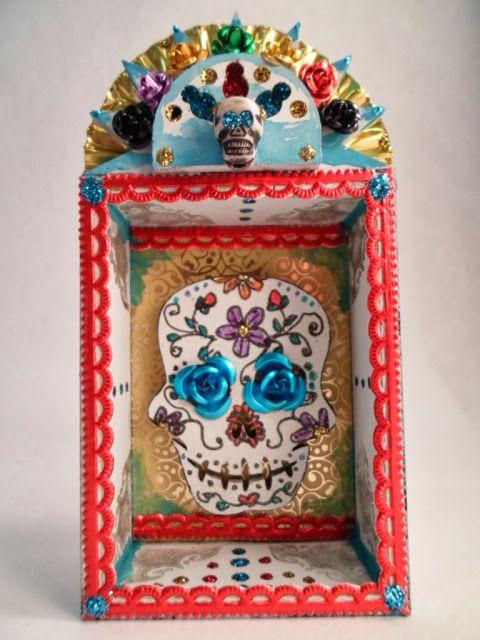 Day of the dead shrine using retro cafe art supplies dotd for Day of the dead craft supplies