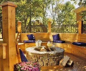 Privacy Deck with Fire Pit ideas