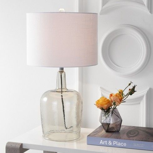 26 Augustine Glass Led Table Lamp Gray Shadow Includes Energy