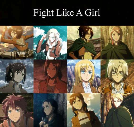attack on titan girls: