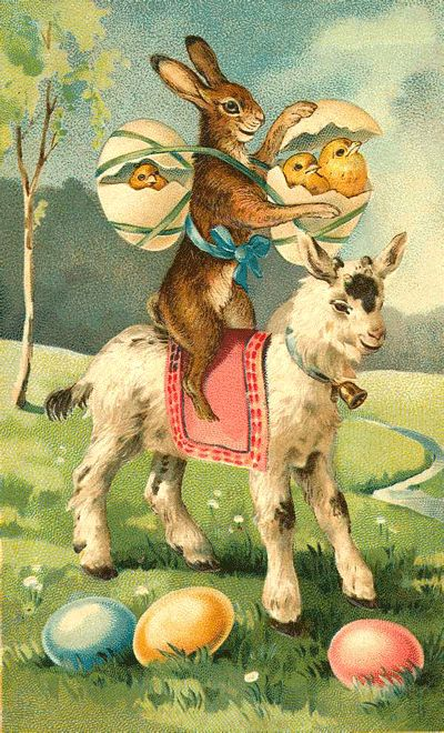 Vintage easter Postcards | As the Clever Crow Flew: Vintage Easter Postcards No. 2: