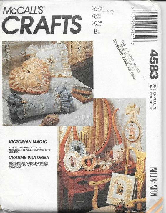 McCall's Crafts 4583 - Victorian Magic - Home Accessories Sewing Pattern…