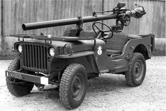 m38 jeep recoiless rifle - Google Search