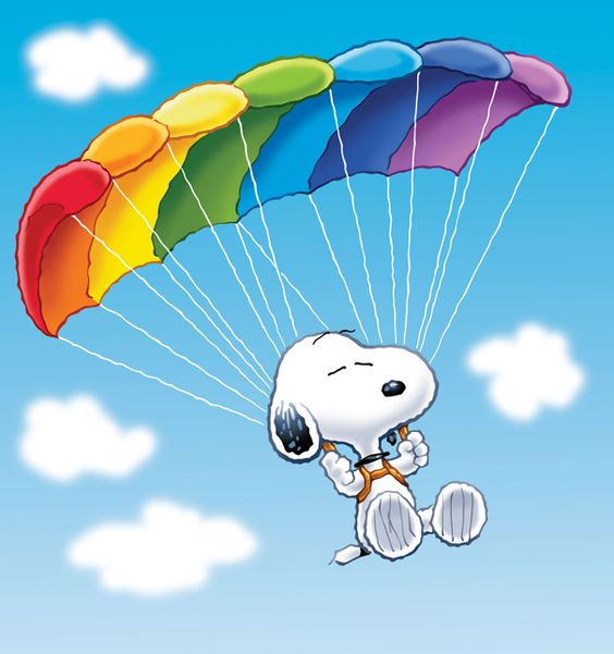 Follow me, Snoopy and Parachutes on Pinterest