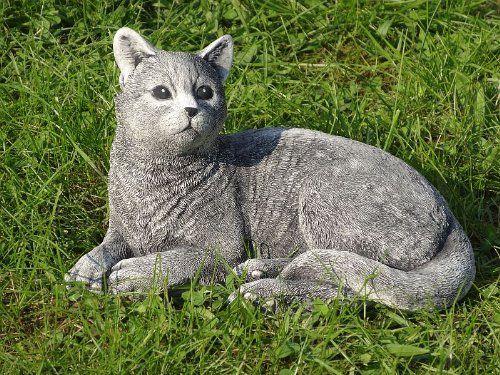 Steinfigur Kater Katze Liegende 05 Ca 6 Kg Frostfest Wasserfest Stein Nr 250 Amazon De Garten Katzen Deko Katze Katzen Kaufen