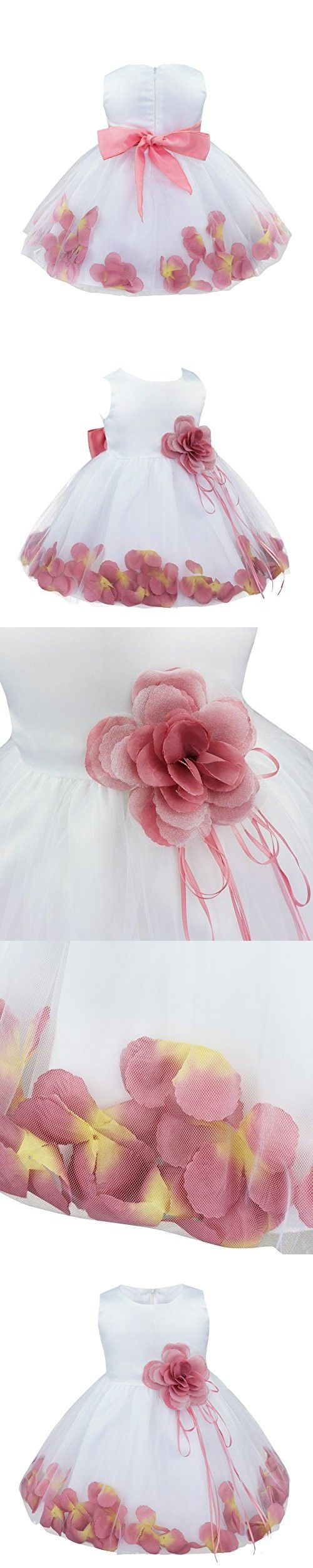 7f2af21ab966 FEESHOW Baby Girls Petals Flower Wedding Pageant Princess Party ...
