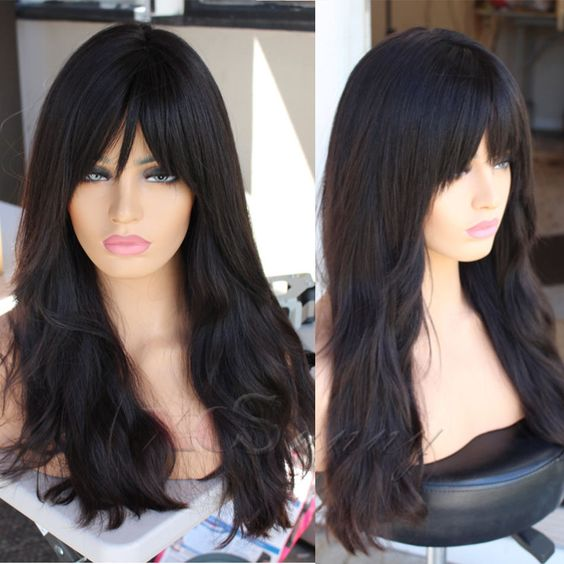 New Fashion Brazilian Virgin Human Hair Glueless Lace Front Wigs Natural Wave #hair #brazilianhair #lacewigs #virginhair #kinkycurly #naturehair #naturalcurlyhair #laceclosure #hairproduct #indianhair #brazilianweave #brazilianbodywave