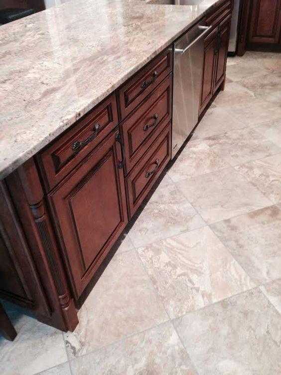 Kitchen cabinet island legs posts kemper cabinets cherry whiskey