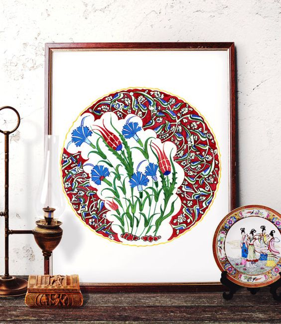 Traditional Ottoman Tulip Watercolor Wall Art Turkish Floral: Pinterest • The World's Catalog Of Ideas