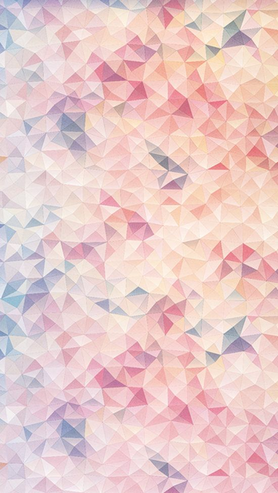 Parallel Wallpaper: The contrast between the sharp angles and soft pastel colors in Rumiko Matsumoto's design Parallel Worlds makes for such an interesting pattern.#iphonebackground #ios7