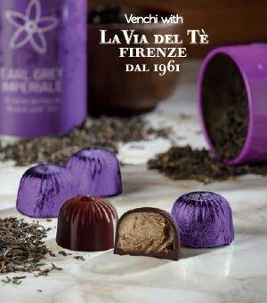 Heerlijke pure chocolade met Earl grey thee van Venchi