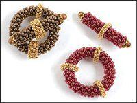 peyote toggle clasp: Jewelry Clasps, Beaded Clasps, Beading Tutorials, Clasps Beadingdaily, Beaded Toggles, Clasps Toggles, Beadwork Clasps, Jewellery Tutorials Beading2, Beaded Jewelry