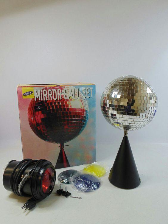 Lite F/X Mirror Ball Set Disco Ball Table Top In Musical Instruments U0026 Gear