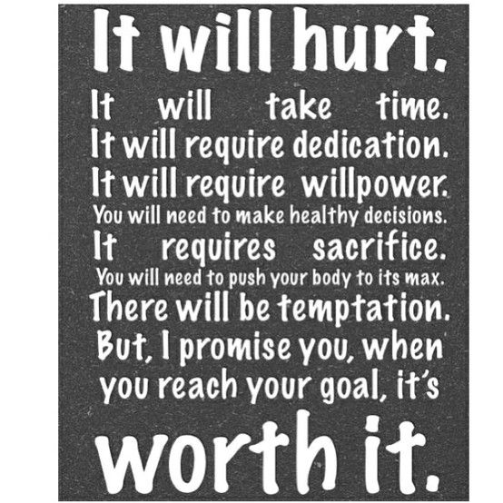 It will hurt... but it's worth it.