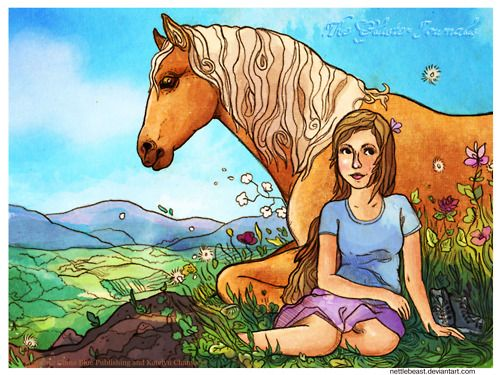 Allison and Gold from my novel Bronze by artist Katelynn Chambers