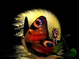 Hadas, abstracto, barco, hada, fantasía, agua de la mariposa, imágenes - OnlyImage.com