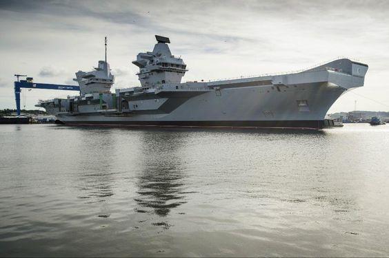 The new British aircraft carrier HMS Queen Elizabeth
