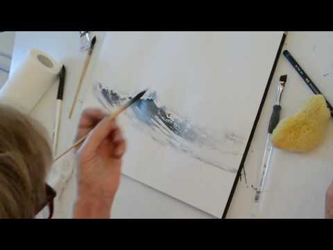 Les Vagues De Nicole Boulet Youtube Peintures A L Aquarelle