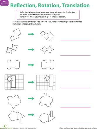 math worksheet : reflection rotation translation  worksheets math and articles : Rotation Math Worksheets