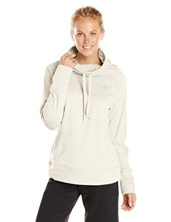 Champion Women's Powertrain Tech Fleece Funnel Neck Hoodie, Shuga ...