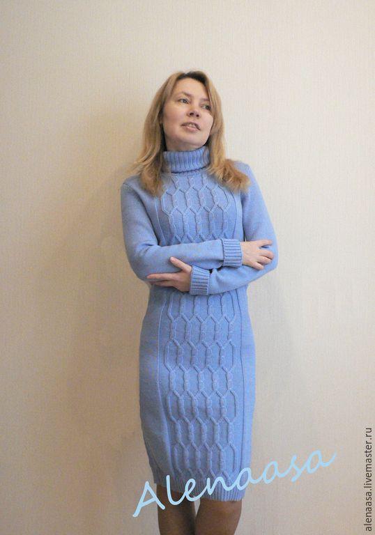 Элегантные вязаные платья фото